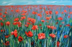 'Poppies' 150 x 100cm (w x h) £1,850 Looks absolutely fantastic in person. A DB original. Call 01572 756760 for details or to purchase
