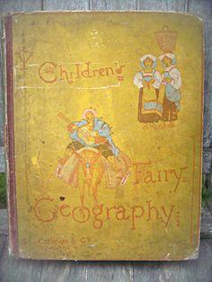 Antique children's book Children's Fairy by LittleBeachDesigns