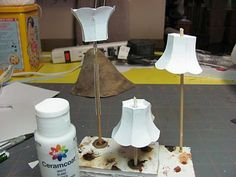 Dollhouse Miniature Furniture - Tutorials | 1 inch minis: Lamp Shade, Part 2