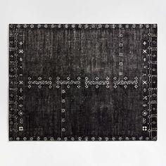 Erria Black Rug 8'x10' + Reviews   Crate and Barrel Wool Area Rugs, Wool Rug, Antelope Rug, Minimalist Beauty, Modern Minimalist, Custom Carpet, Star Rug, Hand Tufted Rugs, Modern Traditional