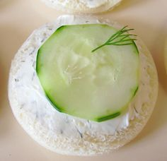 cucumber sandwich - the way I like to make them Cucumber Sandwiches, Tea Sandwiches, Finger Sandwiches, Bridal Shower Snacks, Food Tasting, Mini Foods, Appetizer Dips, Gourmet Appetizers, Appetizer Recipes