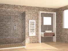 Termoarredo a pannello a parete GIULY by CORDIVARI design Mariano Moroni
