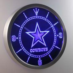 Dallas Cowboys LED Neon Wall Clock