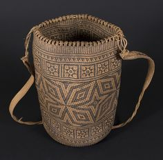 Ajat basket, Penan people. Borneo 20th century, 15 (cm) diameter by 33 (cm) height