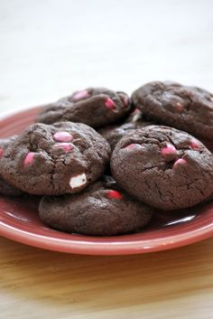 Chocolate Chewy M & M cookies