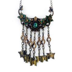 Iron Butterfly steampunk necklace by PurplePeacock