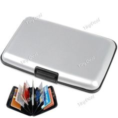 Security Credit Card Wallet Card Pack Holder Case Box Protector with 6 Slots http://www.tinydeal.com/fr/security-credit-card-wallet-with-6-slots-p-62525.html