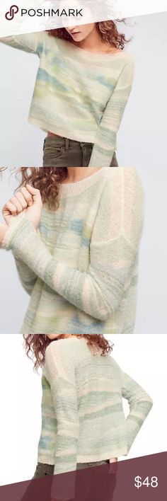 Anthropologie Frosted Horizon Sweater Blue textured with sparkle. From Anthropologie brand Troubadour. Brand new with tags. Anthropologie Sweaters