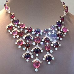GABRIELLE'S AMAZING FANTASY CLOSET | Bulgari Multi-Cabochon Gemstone and Diamond Necklace