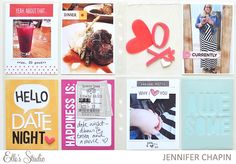 Project Life with Jennifer Chapin using the Elle's Studio August exclusives