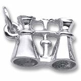 Rembrandt Binocular Charm.  $31.00  http://www.charmnjewelry.com/sterling-silver-charms.htm  #SilverCharm