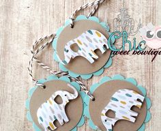 New Baby Boy Shower Tags - Neutral Gift Tags - Baby Boy Cupcake Toppers - Set of 12 Tags - Baby Elephant Cardstock Gift Tags - Newborns - http://www.babyshower-decorations.com/new-baby-boy-shower-tags-neutral-gift-tags-baby-boy-cupcake-toppers-set-of-12-tags-baby-elephant-cardstock-gift-tags-newborns.html