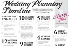 Make Wedding Planning Easy With These Free Timeline Checklists: Marry This! Free Wedding Checklist Timeline
