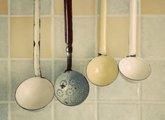 Love the holes in the ladle -- maybe paint?