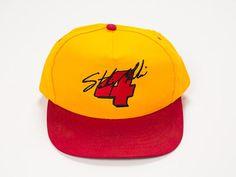 hot sales b8b45 99e86 90s NASCAR Hat - Vintage NACAR Snapback Hat - Sterling Marlin Hat - Kodak -  Yellow and Red - Baseball Hat - 90s Snapback - 90s Like New