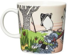 The Moomin 2019 Summer Seasonal Mug is only available from April until the end of August. The Mug shows the Moomin family on holiday when they take a Moomin Mugs, Pirate Cat, Diving Board, Evening Sun, Tove Jansson, Desert Island, Marimekko, Brigitte Bardot, Hot Days