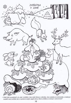 Arctic Animals, Forest Animals, Emotions Preschool, Fallen Book, Winter Wonder, Preschool Worksheets, School Projects, Kids And Parenting, Coloring Pages