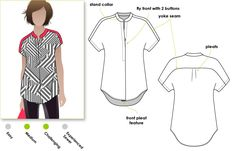 """Sophisticate shirt with """"Magyar"""" sleeve Australian site has interesting patterns"""