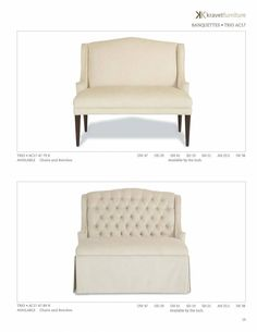 Duet banquette tufted & skirted
