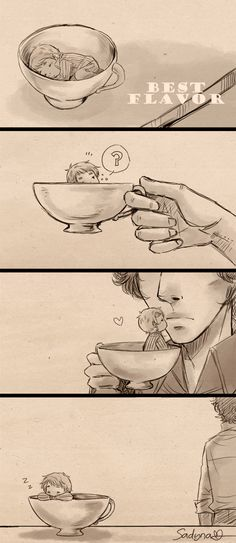 SH - My Cup Of Tea Mini Comic by *Sadyna on deviantART // omg i just died of cuteness overload