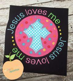Cross Circle Applique Design
