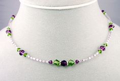 Handmade Beaded Necklaces: Gemstone, Beaded, Swarovski Crystal Birthstone Necklace by Gemstone Gifts