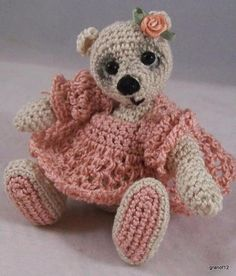 Miniature Crochet Bear Pattern