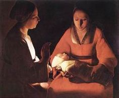 The New-born. 1640. LA TOUR, Georges de (b. 1593, Vic-sur-Seille, d. 1652, Luneville)