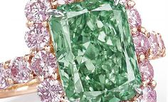 "The 5.03-carat ""Aurora Green,"" the largest and finest fancy vivid green diamond ever offered at auction, was scooped up by mega-retailer Chow Tai Fook Jewellery for $16.8 million at Christie's Hong Kong on Tuesday."