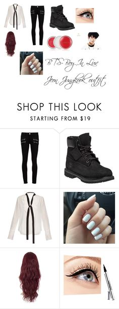 """""""BTS-Boy In Luv Jeon Jungkook  outfit"""" by chuablai-xiong on Polyvore featuring Paige Denim, Timberland, Chloé, Luminess Air and Clinique"""