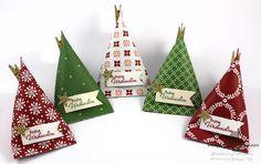 Stampin' Up! Sour Cream Container Weihnachten Festlich geschmückt Goodie