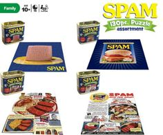 Set of 4 Different SPAM Puzzles - 130 pieces each Haywire,http://www.amazon.com/dp/B005ZXI2OI/ref=cm_sw_r_pi_dp_xiLRsb0W1Q20NGAQ