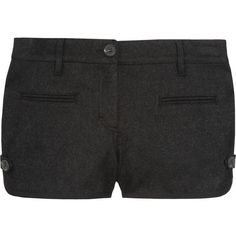 Vanessa Bruno Athé Wool-blend felt shorts ($225) ❤ liked on Polyvore