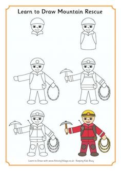 Learn to Draw Mountain Rescue