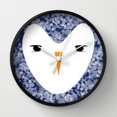 Penguin Face Wall Clock
