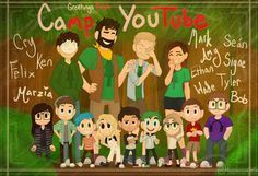 "lorCamp YouTube | YouTubers  This is based of the youtube animated series ""Camp Camp"" by Roosterteeth. If you don't know what it is I highly recommend watching it  @markiplier @therealjacksepticeye @crankgameplays @wiishu @lordminion @pewdie..."