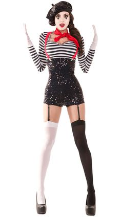 Flirty French Mime Costume