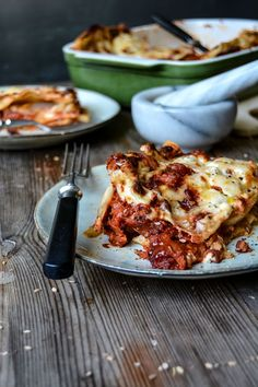 Fennel Tomato Lasagna with crunchy Bacon