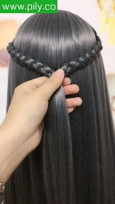 Easy Hairstyles For Long Hair, Braids For Long Hair, Braided Hairstyles, Front Hair Styles, Medium Hair Styles, Hair Style Vedio, Hair Tutorials For Medium Hair, Hair Straightening Iron, Hacks Videos
