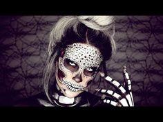 Halloween Look : Diamond Skull | Nicole Guerriero - YouTube