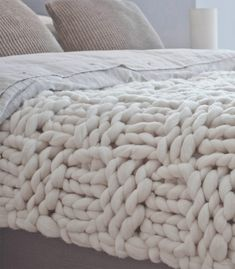 Basket stitch blanket Taupe - Double