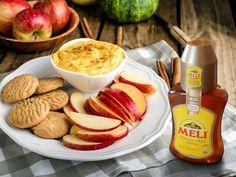 Honing-pindakaas-appeldip - Meli honing
