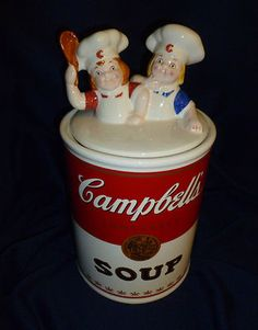 Collectors' Edition Campbell Kids Cookie Jar Campbell's Soup (:
