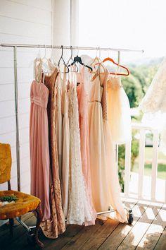 blush bridesmaid dresses | Andrew Allen Morton #wedding
