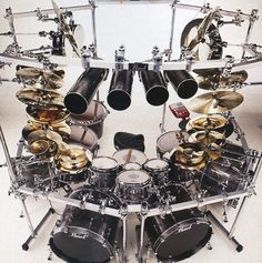 Drummerworld Page for Mike Mangini Music Guitar, Cool Guitar, Guitar Room, Mike Mangini, Drum Cage, Drums Electric, Diy Drums, Best Drums, Pearl Drums