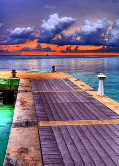 Pier at Rum Point, Grand Cayman.  Came here as a kid, now going back with mine.