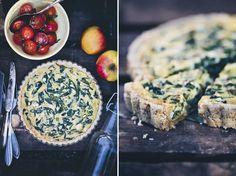 Spinach Feta Pie + Oat Crust // Green Kitchen Stories