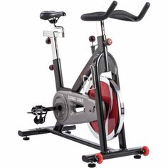 Sunny Health and Fitness SF-B1002C Chain Drive Indoor Cycling Exercise Bike, Gray