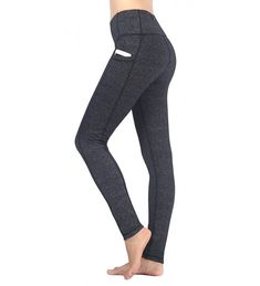 d22982e733736c Shop Women's Ladies Capri Workout Leggings With Pockets Exercise Running  Yoga Pants - Yogaleggings-grey