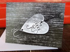 Valentine's Day Card Fishing Greeting Cards by CandTCustomLures, $5.00